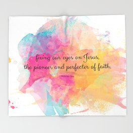 Perfecter of Faith, Scripture Tote Bag Throw Blanket