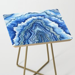 Blue Geode Side Table