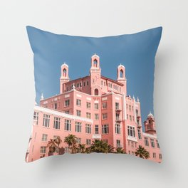 The Pink Hotel -- St. Pete Beach, FL Throw Pillow