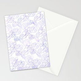 Monstera (White Glow) - Lavender Stationery Cards
