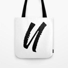 Letter U Ink Monogram Tote Bag
