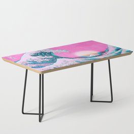 Vaporwave Aesthetic Great Wave Off Kanagawa Coffee Table