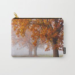 Oaks in the misty Autumn morning (Golden Polish Autumn) Carry-All Pouch