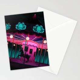 Pink and Purple Carnival Stationery Cards