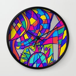 Color me in Wall Clock