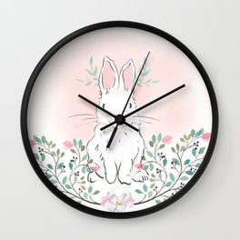 Magnolia Bunny Wall Clock