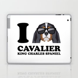 I Love Cavalier King Charles Spaniel modern v1 Laptop & iPad Skin