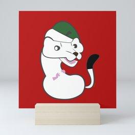 Elf stoat Noel Mini Art Print