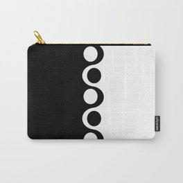 Black and White Mod Carry-All Pouch