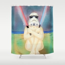 Two of swords Shower Curtain