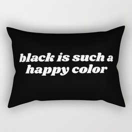 black is a happy color Rectangular Pillow