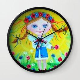 angel sun Wall Clock