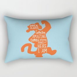Once in awhile Someone Amazing comes along and Here I Am - Winnie the Pooh inspired Print Rectangular Pillow
