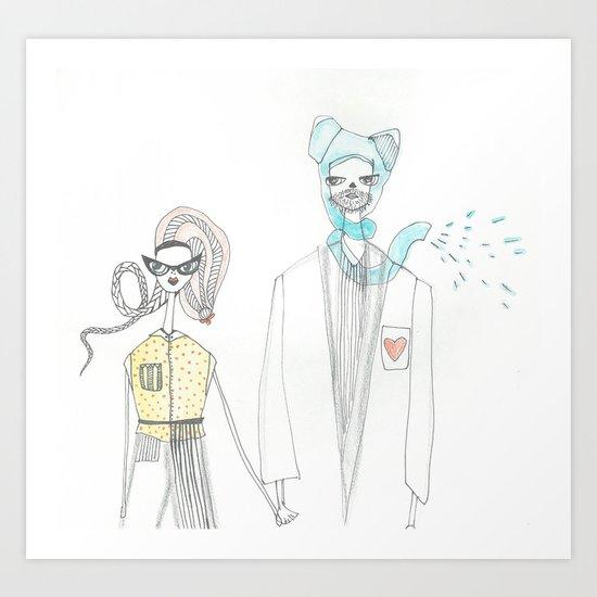 love creatures Art Print