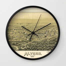 Aerial View of Alvord, Texas (1890) Wall Clock