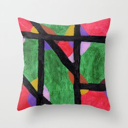 Red & Green Pattern  Throw Pillow