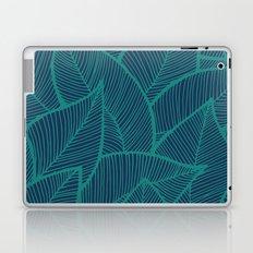Blue Green Leaves Laptop & iPad Skin