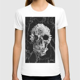 Floral Marble Skull T-shirt