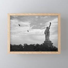 Black and White American Scene Framed Mini Art Print