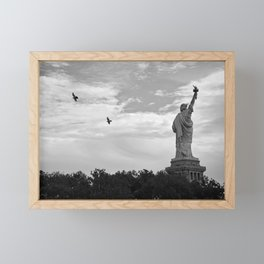 Black and White American Scene Framed Mini Art Print