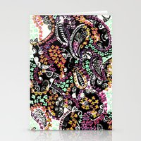 paisley Stationery Cards featuring PAISLEY by  Ray Athi
