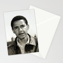 Old young obama Stationery Cards