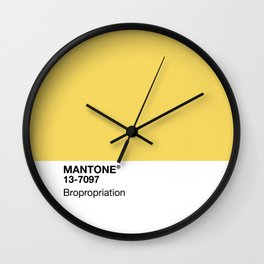 MANTONE® Bropropriation Wall Clock