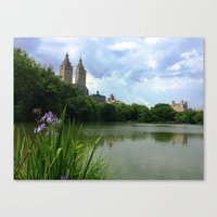 central park Canvas Prints featuring Central Park by Michelle Drake