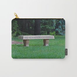 Lourdes University- Make Me an Instrument of Your Peace Carry-All Pouch
