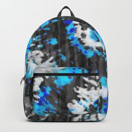 Black White and Blue Tie Dye Backpack