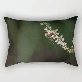 Memories of Spring-A single bee on flowers Rectangular Pillow