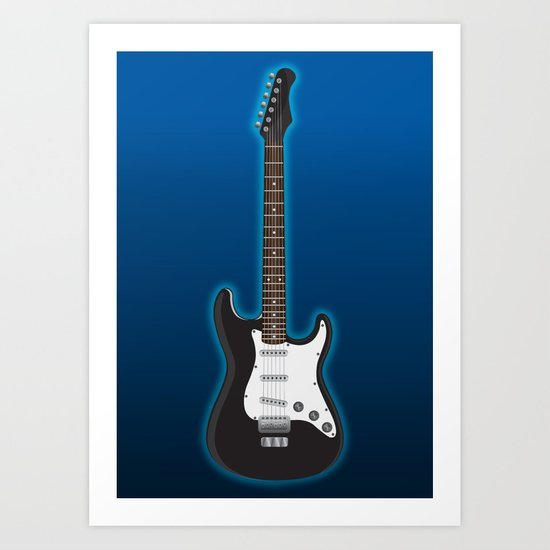 Rock my blue! Art Print