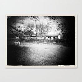 Old Barn B&W Canvas Print