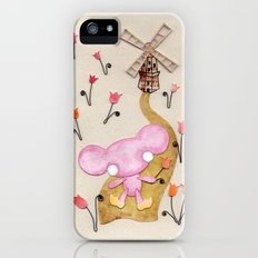 A Mouse With Clogs On, By A Windmill iPhone SE Slim Case