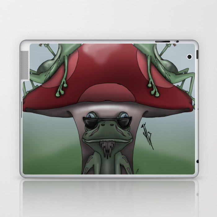 Shroom Frogs Laptop & iPad Skin