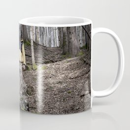 Ape stands silent in the woods Coffee Mug
