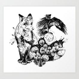 Stolen Moon Heart Art Print