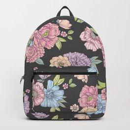 Pastel flower garden Backpack