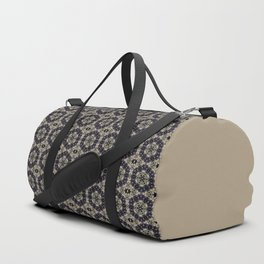 Gray olive ornament Duffle Bag