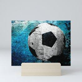 Soccer print variant 2 Mini Art Print