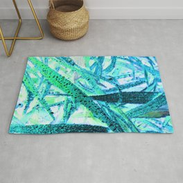 Invert Grass Design Rug