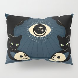 Midnight Cats Doing Their Dark Business Pillow Sham