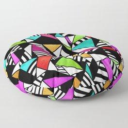 Geometric Multicolored Floor Pillow