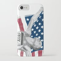 allyson johnson iPhone & iPod Cases featuring Allyson Felix by Moira Sweeney
