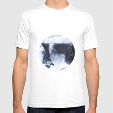 Lost at Sea White MEDIUM Mens Fitted Tee
