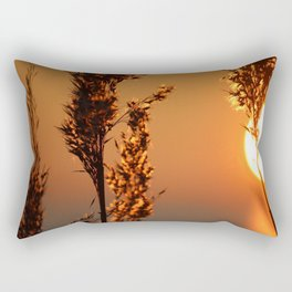 Reed in golden light Rectangular Pillow
