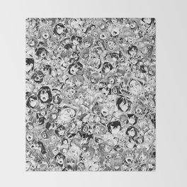 Manga ahegao Throw Blanket