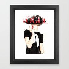 Vogue Magazine Cover. Frida Gustavsson. Fashion Illustration. Framed Art Print