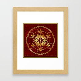 Metatrons Cube, Flower of life, Sacred Geometry Framed Art Print