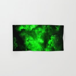 Envy - Abstract In Black And Neon Green Hand & Bath Towel